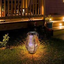 UK Outdoor Solar Power Hanging Lamp LED Lantern Garden Lawn Landscape Light Warm