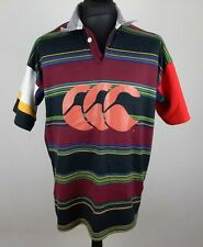 Vintage Canterbury of New Zealand Rugby Polo Shirt Men's Size L Striped Jersey