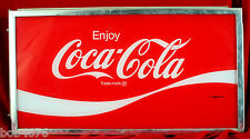 """Vintage """"Enjoy Coca-Cola"""" Electric Light FRONT PANEL Soda Fountain Store Display"""