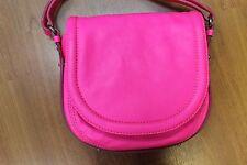 Alexander McQueen Hot Pink Leather Crossbody Purse Shoulder Bag Purse Handbag