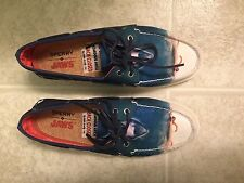 New Sperry Men's A/O X Jaws Shark Attack Casual Boat Shoes Size 8.5 w/box
