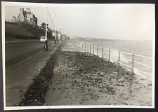COLWYN BAY Seafront VINTAGE 1964 PHOTOGRAPH Houses 12cm x 8.5cm Waves 639