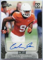 2020 Leaf Draft Picks Collin Johnson Autograph Rookie Card #BA-CJ1 Texas