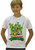 Teenage Mutant Ninja Turtles TMNT Kids Boys Girls Unisex White Top T-shirt 388