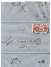 1867 Mar 14 Raro 3d Rose Par Placa 4 Emblemas Filigrana GATO £ 450 único cubierta
