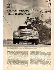 1957 DKW 3=6  ~  ORIGINAL 5-PAGE ROAD TEST / ARTICLE / AD