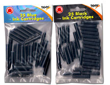 Pack of 25 Ink Cartridges In Blue and Black - Idea for Home, School and Office