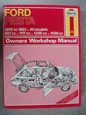 Used Ford Fiesta 1976-1983 Haynes Workshop Manual 957cc 1117cc 1298cc 1598cc