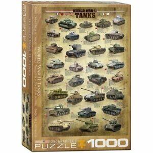 Eurographics Puzzle 1000 Piece Jigsaw puzzle - World War II Tanks EG60000388