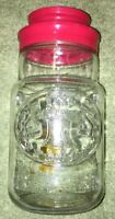 Anchor Hocking Glass Jar w/Lid Bicentennial 1776 Embossed Liberty Bell coffee