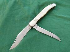 Western 062 Cracked Ice Large Folding Knife w/sheath Sweet Unused