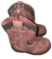 Toddler Girls Size 5 Isabella Cowboy Boots with Glitter - Cat & Jack Pink New