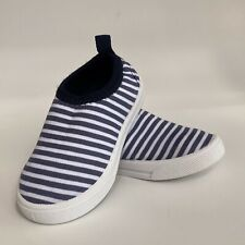 Koala Kids Water Shoes Toddler Boys Blue White Stripes Size 4 Slip On