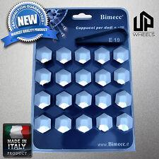 (20) NEW 19MM HEX CHROME CAP COVERS FASTENER LUG CHEVROLET CHEVY WHEEL RIM ITALY