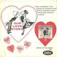 GORDON & SHEILA MAC CRAE--PROMO ONLY-4-SONG PICTURE SLEEVE+45-(OUR LOVE STORY)PS