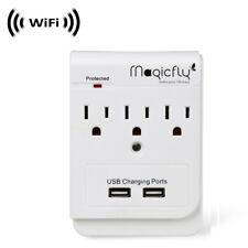 WiFi IP Wireless Spy Camera Hidden in Wall Plug-in Power by SCS Enterprises ®