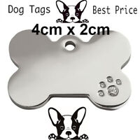 Engraved Pet Tags DOG Disc Free P&P Deep Engraving Name Identity