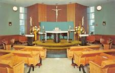 DES MOINES, IA Iowa  BISHOP DRUMM HOME Interior~SISTERS OF MERCY Chrome Postcard