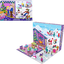 More details for polly pocket advent calendar with winter family fun theme & 25 days of 34 total