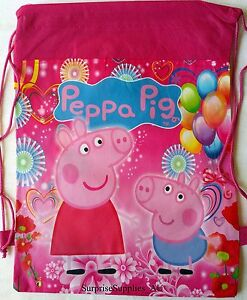 2X PEPPA PIG Non woven drawstring backpack bags for kids **AU Seller