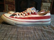 1dddb55eb32182 Converse All Star Mens Shoes Size 12 Canvas Low Top Red White Blue Flag  Lace Up