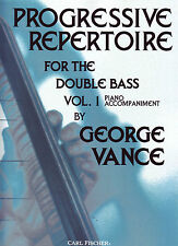 Progressive Repertoire Bk1 Piano Acc Double Bass George Vance O5426 NEW