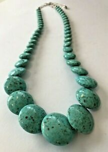 JAY KING MINE FINDS TURQUOISE STERLING SILVER DTR 925 NECKLACE *PLEASE READ*