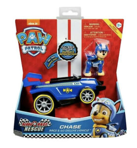 "PAW PATROL Ready Race Rescue - ""CHASE"" Race & Go Deluxe Pull Back Motor Vehicle"