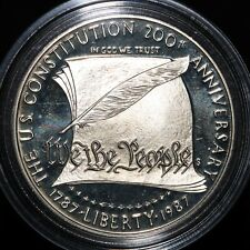 More details for 1987 s | u.s.a. constitution bicentennial 1 dollar | silver | coins | km coins