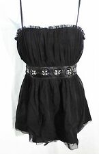 Mimi Maternity women S blouse special occasion spaghetti strap black beaded