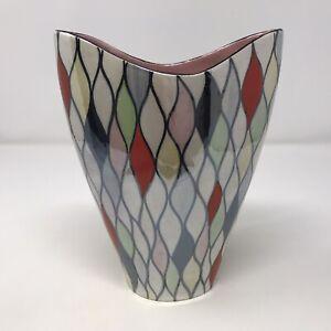 Rare Vintage Maling Harlequin Lustre Vase 143