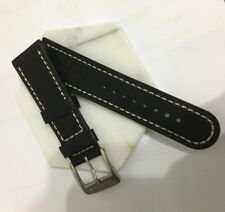 Glycine 24mm Leather Strap White Stitch With Pin Buckle