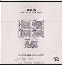 MC 1976  Italia Expo 76 foglietto MNH**