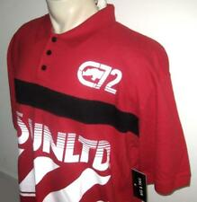 NEW 3XB ECKO UNLTD MENS POLO SHIRT Red Black White Short Sleeve 3X 3XL XXXL