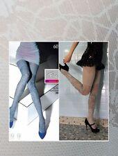Bona opaque tights Fiore 60 den pantyhose Light Grey SMALL Made in Poland