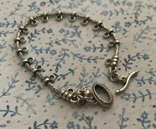Brighton Clip On Charms Toggle Connector Chain Silver Starter Bracelet