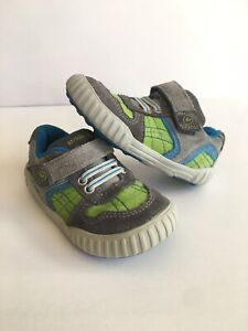 Stride Rite Gray/Green Athletic Flat Walking Shoes  - Baby Size 4.5