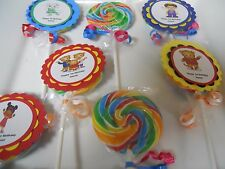 12 Daniel Tiger 2nd 3rd 4th 5th Birthday Jumbo Whirly swirl Hard Lollipop Favors
