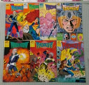 psychoblast (First,1987) 1-7 7 Comic Set in HIGH GRADE - Great Photos -