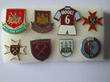j3 lotto 8 pins lot WEST HAM FC club spilla football calcio badge spille