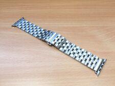 Stainless Steel Link Bracelet Butterfly Lock Watch Strap For Apple Watch 42mm