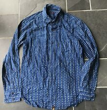 PAUL SMITH red ear Azul Con Puntos Camisa de manga larga - M - P2P 21