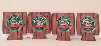 Moosehead Lager 12 oz Can Koozie Cooler Rustic Woods - Set of (4) - Brand New!