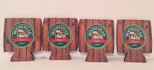 Moosehead Lager 12 oz Can Koozie Cooler Rustic Woods - Set of (4) - Brand New!