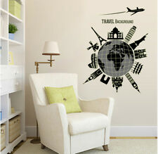 Travel Background Glow In The Dark Wall Sticker Home Decor Room Mural Decals