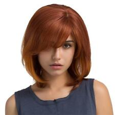 Natural Women Cosplay Full Wig Bob Curly Real Human Hair Heat Resistant Wigs