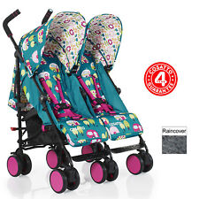 NEW COSATTO HAPPY CAMPER SUPA DUPA GO TWIN STROLLER LIGHTWEIGHT DOUBLE PUSHCHAIR