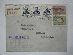 REGISTERED 1952 MOZAMBIQUE, LOURENCO MARQUES COVER