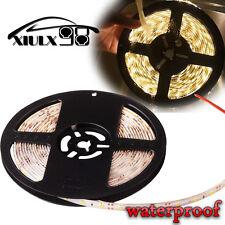 5M Warm White Flexible Strip Light Lamp 300 LED Car Waterproof 3528 SMD 12V US