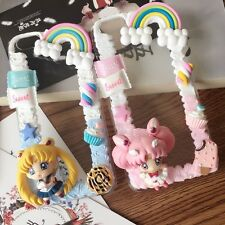 Anime Sailor Moon n Chibi Usa Cartoon DIY Cream Cases for iPhone5s/se/6s/6P/7/7P